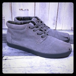 TOMS Shoes Grey Suede Mid Classics